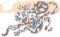 Blæksprutte 190 x 105 cm